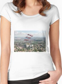 Red Arrows over Lincoln Women's Fitted Scoop T-Shirt
