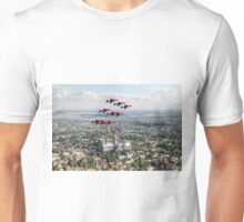 Red Arrows over Lincoln Unisex T-Shirt