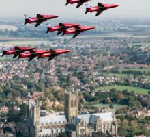 Red Arrows over Lincoln Sticker