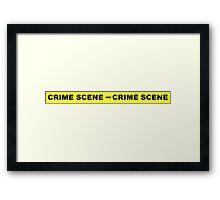 Crime Scene Tape Framed Print