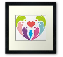 COLORFUL LOVE Framed Print