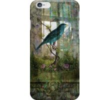 Indoor Garden with Bird iPhone Case/Skin
