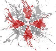 Resident Evil Umbrella Splatter Design by Aimee Routledge