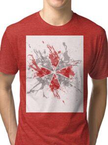 Resident Evil Umbrella Splatter Design Tri-blend T-Shirt