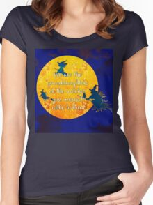 We are the granddaughters of the witches you weren't able to burn... Women's Fitted Scoop T-Shirt