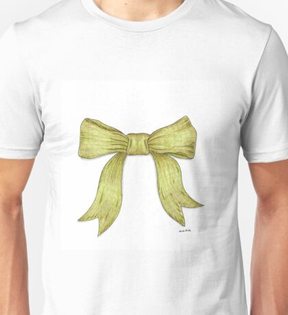 Green Ribbon Bow Unisex T-Shirt