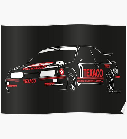 Ford Sierra RS500 Cosworth Touring Car Poster