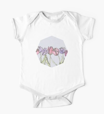Field of Tulips One Piece - Short Sleeve