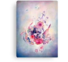 """""""The Flight"""" from the series  """"Flower Galaxies"""" Canvas Print"""