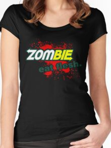 Zombie - Eat Flesh Women's Fitted Scoop T-Shirt