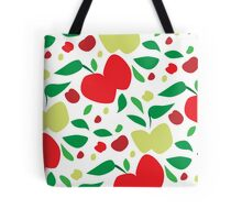 Festive Apple Orchard Pattern Tote Bag
