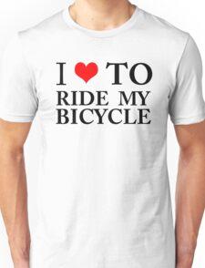 I Love To Ride My Bicycle GREEN ECO ENVIRONMENT WIGGINS CYCLING BIKING Unisex T-Shirt