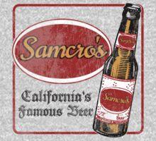 Samcro Beer Coaster by tee-fury