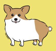 Cute Corgi Puppy Dog One Piece - Short Sleeve