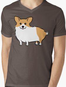 Cute Corgi Puppy Dog Mens V-Neck T-Shirt