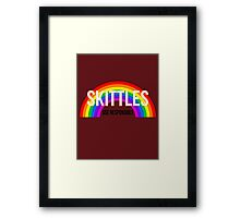 Don't Skittle & Drive Framed Print