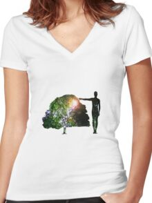 Eco Warrior (Male) Women's Fitted V-Neck T-Shirt
