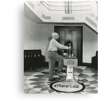 LUTHER CARSON DEMONSTRATING OLD CAP MACHINE, PADUCAH, KY Canvas Print
