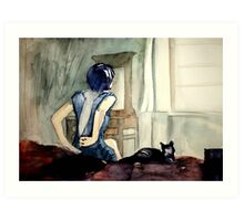 maybe she was more cat than human, she thought Art Print