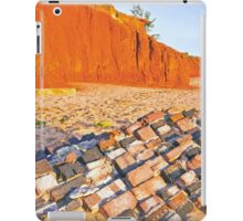 rock wall redell beach  iPad Case/Skin