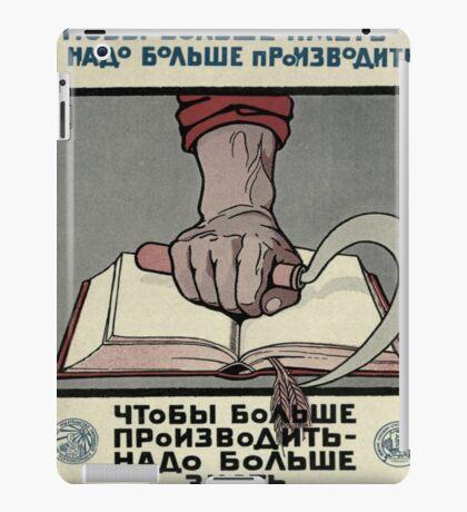 Vintage poster - Soviet Union iPad Case/Skin