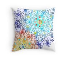 Laced Flowers Throw Pillow