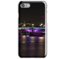 Black Friar Bridge By Night iPhone Case/Skin