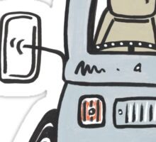 VW Bay Window Molly The Camper Van Sticker