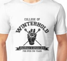 College of Winterhold - Jersey Style (Black) Unisex T-Shirt