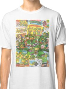 Vintage Comic Teenage Mutant Hero Turtles Classic T-Shirt