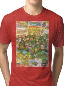 Vintage Comic Teenage Mutant Hero Turtles Tri-blend T-Shirt