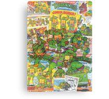 Vintage Comic Teenage Mutant Hero Turtles Canvas Print