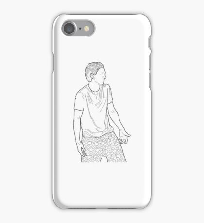 Tom Holland Outline iPhone Case/Skin