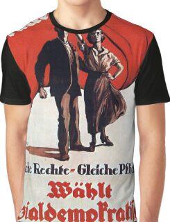 Vintage poster - German Women's Suffrage Graphic T-Shirt