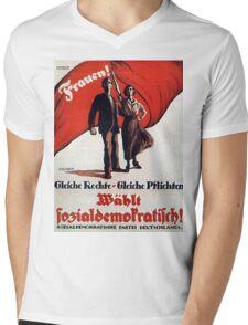 Vintage poster - German Women's Suffrage Mens V-Neck T-Shirt