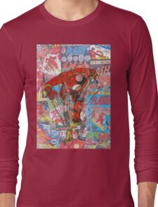 Vintage Comic Flash Long Sleeve T-Shirt