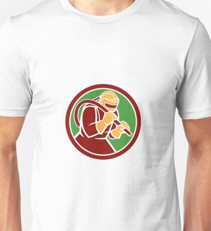Sandblaster Sandblasting Hose Circle Retro Unisex T-Shirt