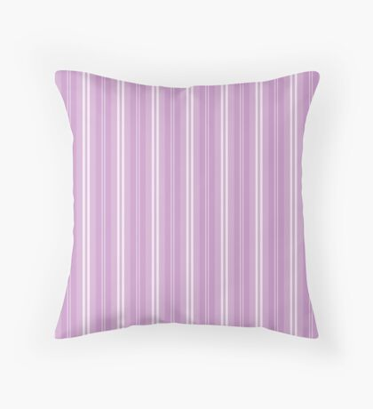 Chalky Pastel Violet Shaded Stripes Throw Pillow