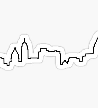Cincinnati, OH City Skyline Sticker