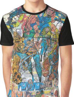 Vintage Comic Fantastic Four Graphic T-Shirt