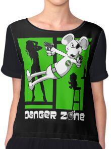 Danger Zone - green Chiffon Top
