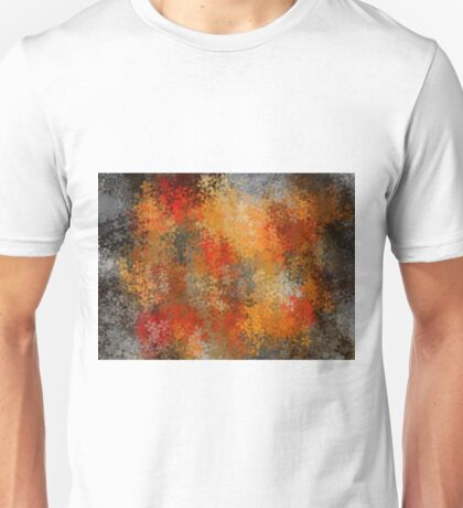 orange red and black flowers abstract background Unisex T-Shirt