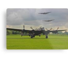 3 Lancasters - East Kirkby  Metal Print
