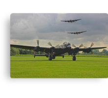 3 Lancasters - East Kirkby  Canvas Print