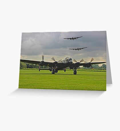 3 Lancasters - East Kirkby  Greeting Card