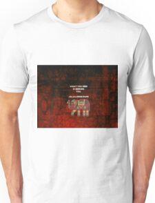 Inspirational Rumi What You Seek Is Seeking You Quote Unisex T-Shirt