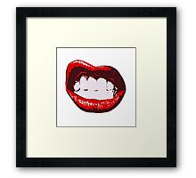 Sexy teen girl lips Framed Print