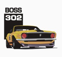 Ford Mustang Boss 302 Kids Tee
