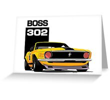 Ford Mustang Boss 302 Greeting Card