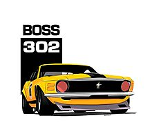 Ford Mustang Boss 302 Photographic Print